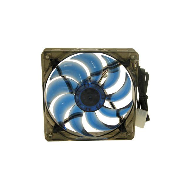 MassCool BLD-12025V1 120mm 3Pin Fan /& 4Pin Molex Blue LED Case Fan